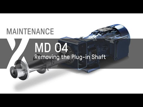 Removing the Plug-in Shaft of a seepex MD Pump