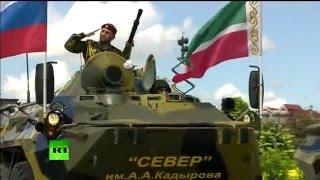В Грозном прошел парад Победы