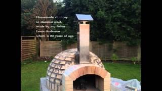 Homemade pizza oven in Denmark