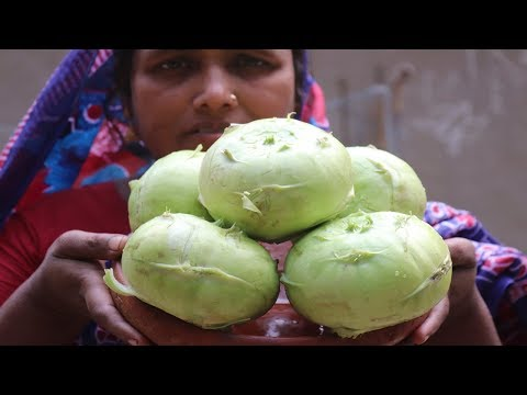 Village Food Farm Fresh Kohlrabi Recipe Village Style Delicious Fresh Kohlrabi & Chicken Cooking