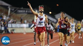 Wisconsin's Morgan McDonald wins the 5,000m run at 2019 NCAA Outdoor Track & Field Championships