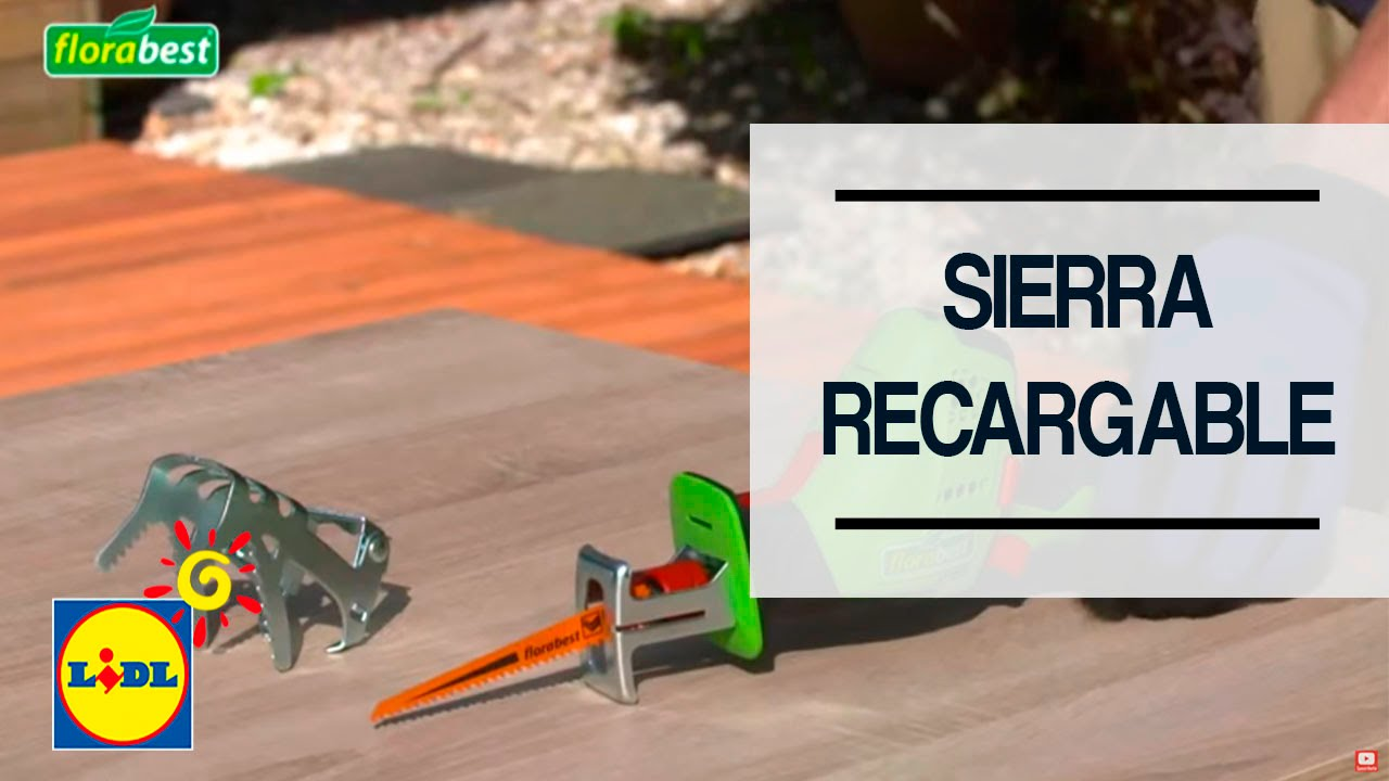 Sierra recargable de jard n lidl youtube for Jardin lidl 2015