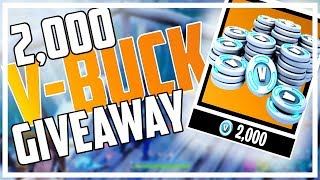 REAL 2,000 V-BUCK GIVEAWAY! Fortnite Battle Royale Gameplay with NEW Bounce Pads!