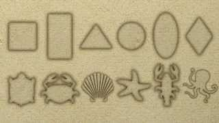 Учим фигуры | Фигуры из песка | Уроки от Пинги и Кроки | #44