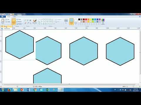 How to Use Cut , Copy ,Paste ,Paste Form in MS PAINT