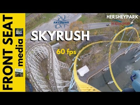 Skyrush POV 60FPS HD Front Seat On Ride Hersheypark Roller Coaster GoPro 1080p Intamin