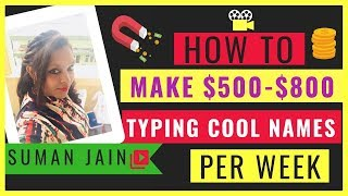 Earn $500 Per Week Typing Names l Work from Home By writing Slogans l Earn $100-$250 (super easy)