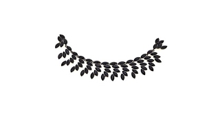 Necklettes Feathered Hematitetone Magnetic Collar