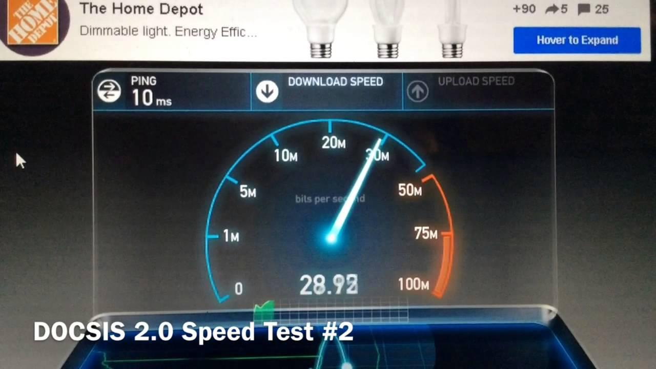 Docsis 2 0 Vs Docsis 3 0 Speed Test Youtube