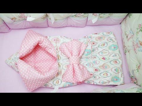 одеяло-конверт для новорожденного своими руками плюш