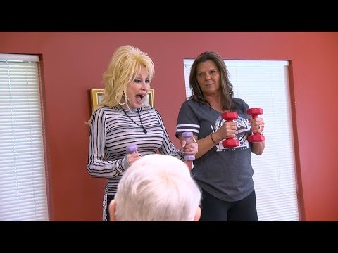 Dolly Parton Teaches Workout Class After Surprising Elderly at Senior Center