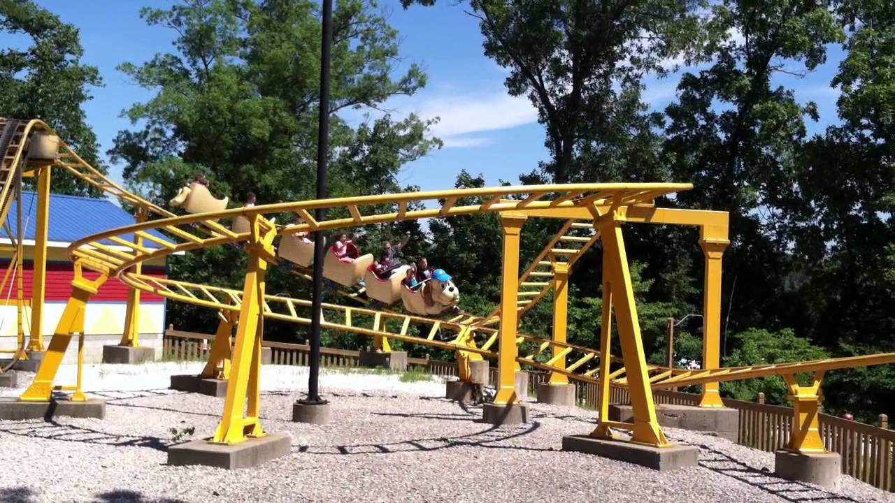 Wyatt's first roller coaster ride on the Howler 6.14.13 ...