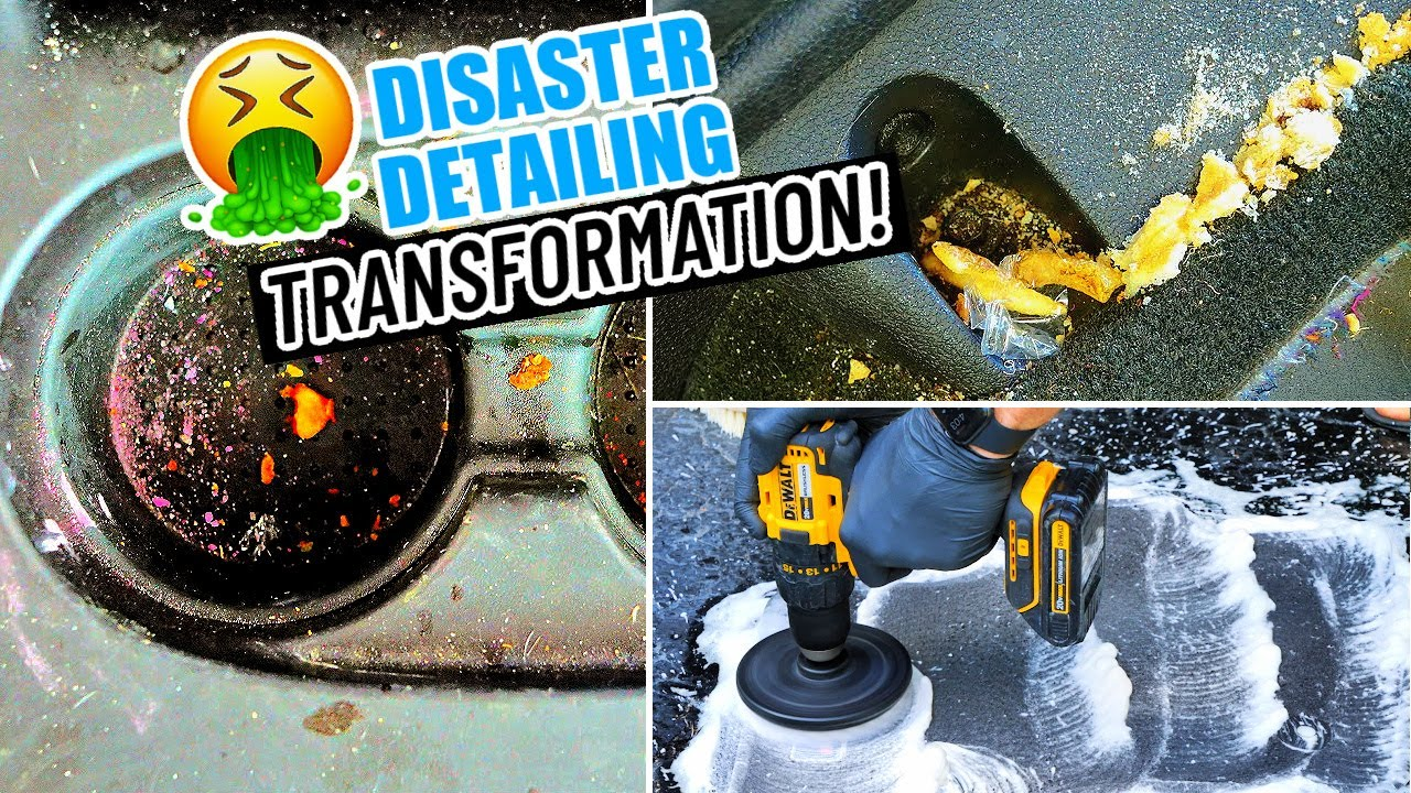 Complete Disaster Full Interior Car Detailing Transformation! DEEP CLEANING A Really NASTY SUV!!