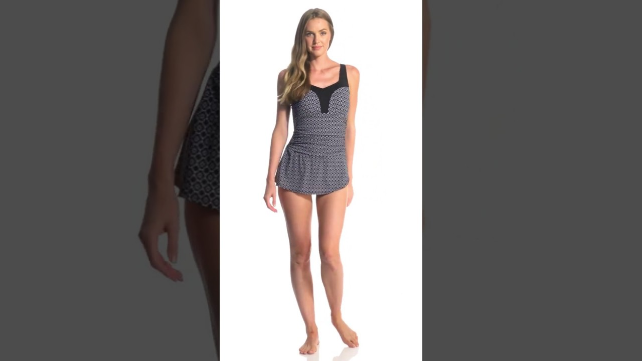 pick up super quality great quality Amoena Mastectomy Ayon Sarong One Piece Swimsuit   SwimOutlet.com