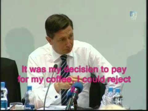 Borut Pahor o plači - Slovenian prime minister Borut Pahor cannot survive with his salary