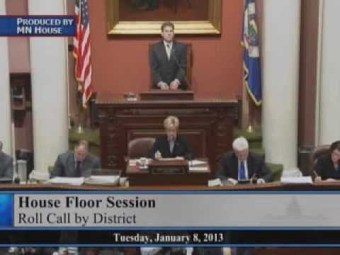Opening day of the Eighty-eighth Session of the Minnesota Legislature