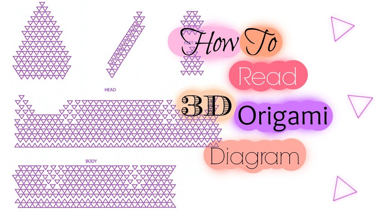 hight resolution of how to read 3d origami diagram
