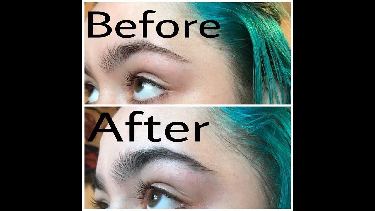 Tinting My Eyebrows With Arctic Fox Lizzy Bizzy Youtube