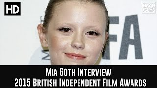 Mia Goth Red Carpet  Interview - The 2015 British Independent Film Awards