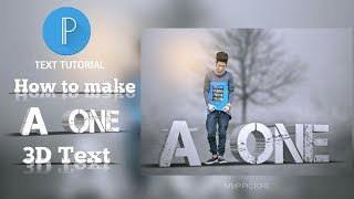 HOW TO MAKE 3D TEXT LIKE MMP PICTURE | Pixellab Tutorial