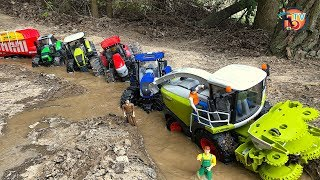 BRUDER RC TRAKTOR Stuck in MUD! TRACTOR Action video for kids!