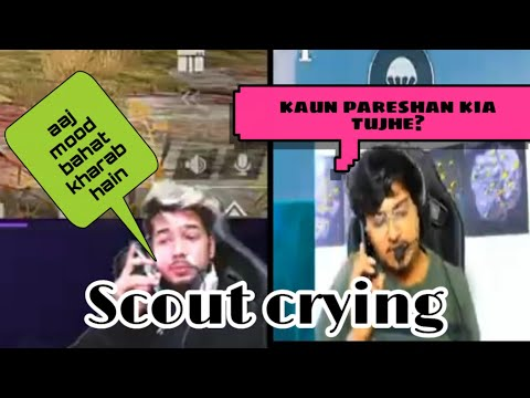 Scout Crying On Stream. Mortal Calling Scout..