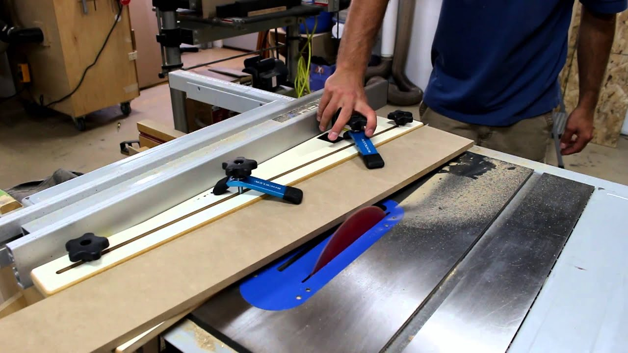 Artrage Straight Line : Rockler taper straight line cutting jig demo glass