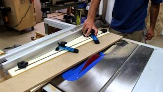 Rockler Taper / Straight Line Cutting Jig Demo By Glass Impressions
