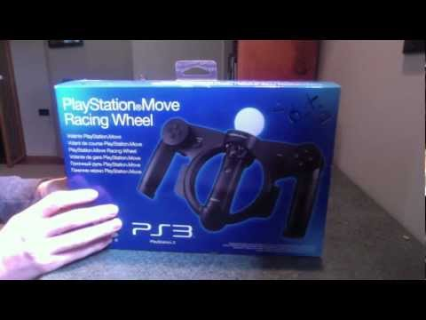 PlayStation Move Racing Wheel Unboxing and Demo