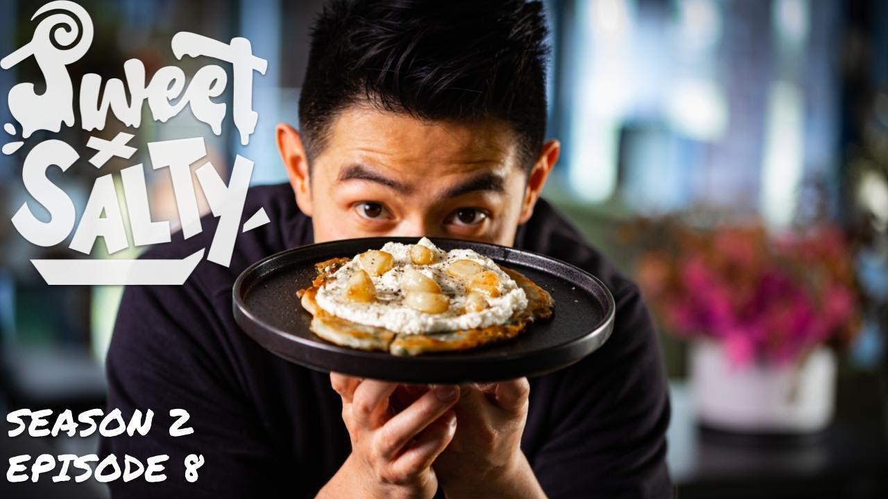 CRISPY Spring Onion Pancakes With Ricotta And Garlic?