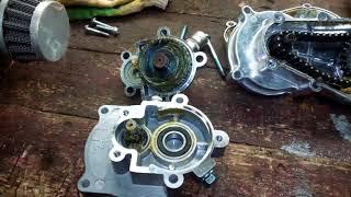 краткий обзор редукторов для бензотриммеров и китайских моторов  со сцеплением 78мм