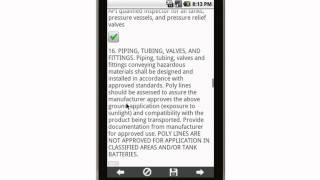 Canvas Onshore Oil and Gas Production Facility Pre-Inspection Check List Mobile App