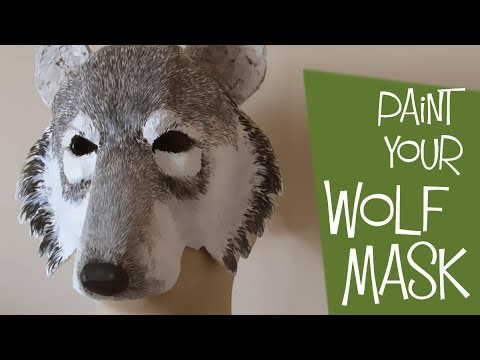 Painting Your Paper Mache Wolf Mask