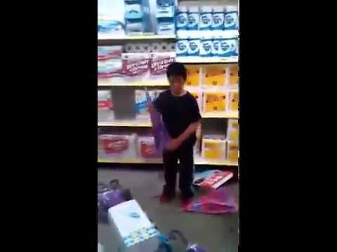 Kid Destroys Dollar Store