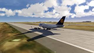 Lufthansa 747-400 take off Denver ++ Aerofly FS 2