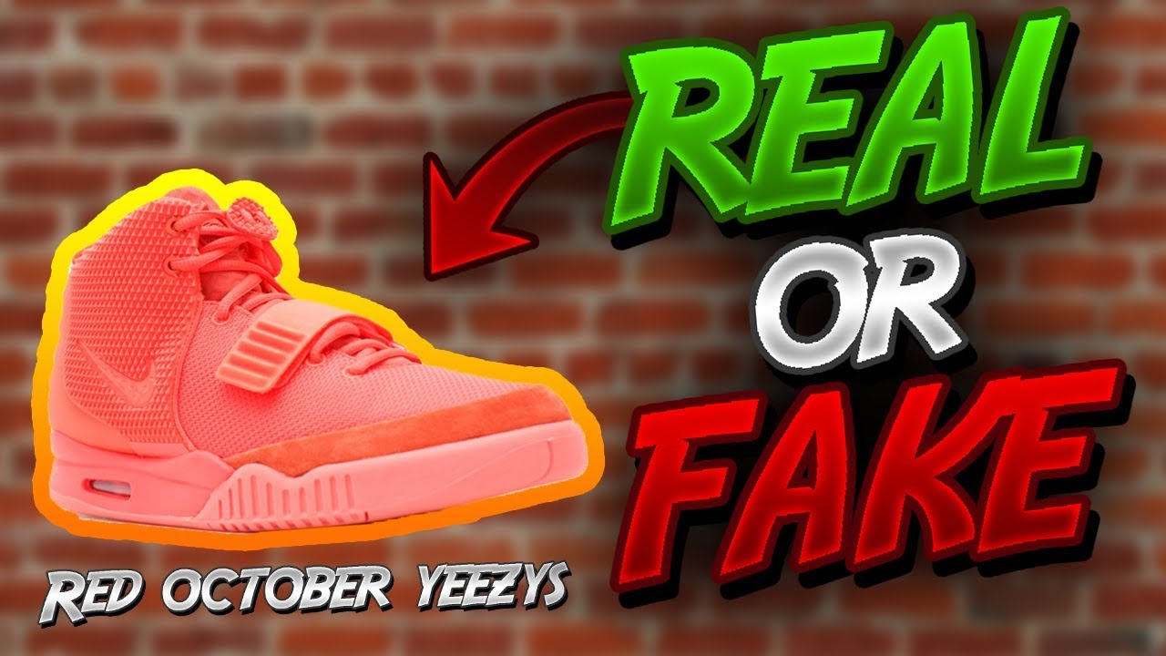REAL VS FAKE NIKE AIR YEEZY 2 RED OCTOBER - YouTube 908dcda86