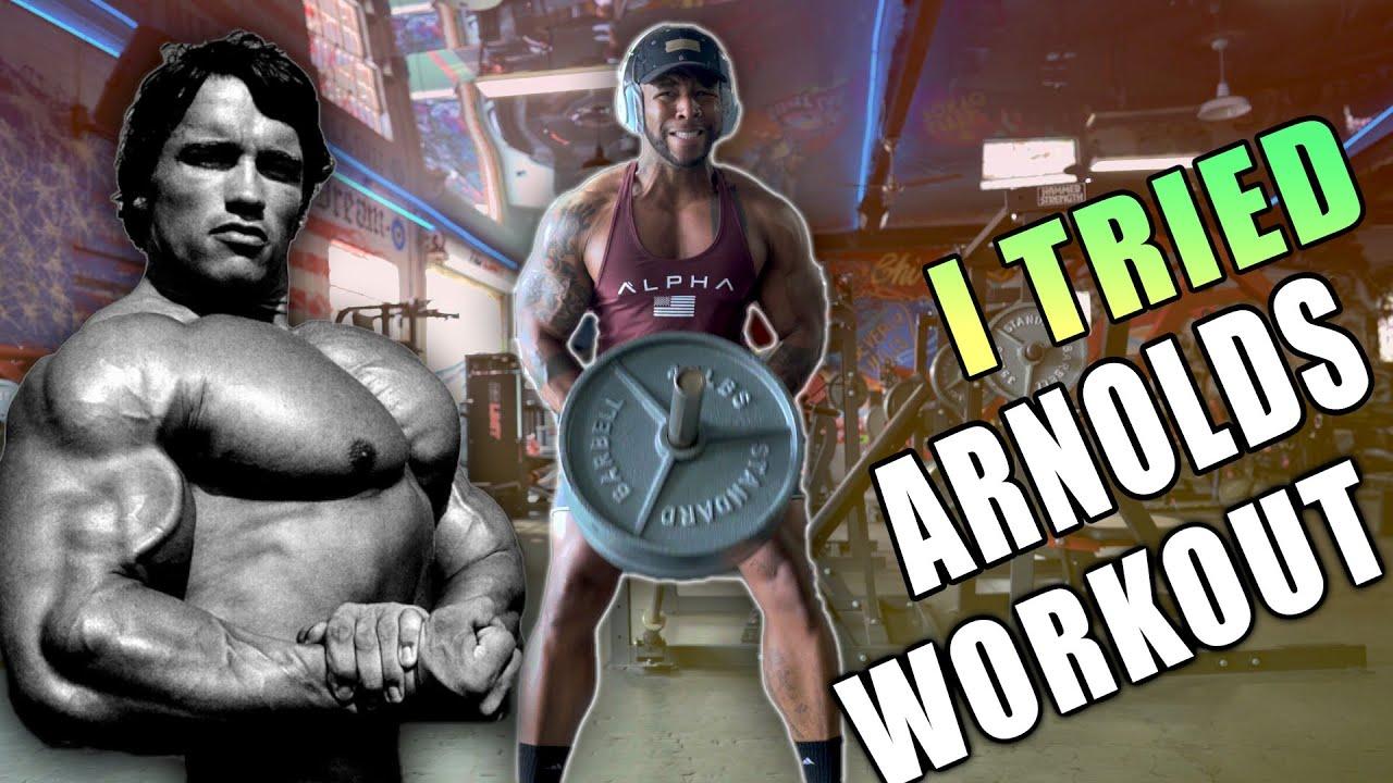 "I Tried ""Arnold Schwarzenegger"" Insane Chest & Back Workout"