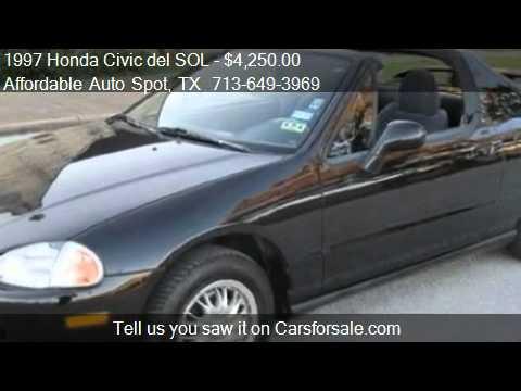 1997 Honda Civic del SOL S - for sale in Houston, TX 77087