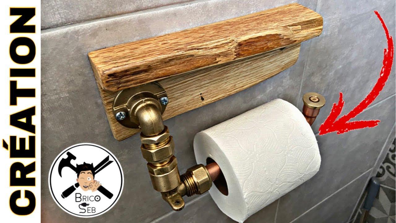 derouleur papier toilette original industriel diy brico seb