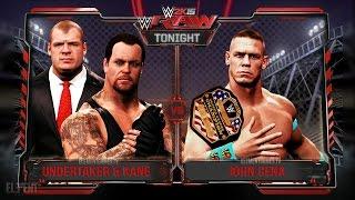 WWE RAW 2K15 : Undertaker & Kane vs John Cena - Brock Lesnar Returns 08/03/15 (Guest Booker)