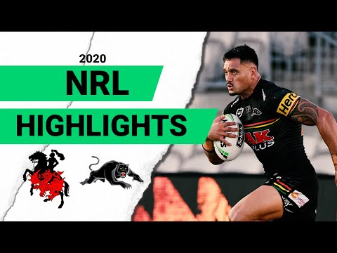Dragons V Panthers Match Highlights   Round 2 NRL 2020   National Rugby League