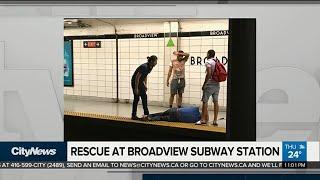 Good Samaritan rescues blind man who fell onto subway tracks