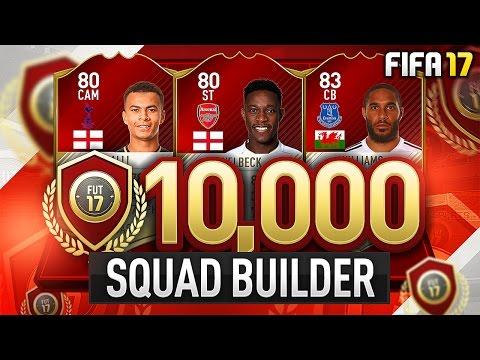10,000 COIN FUT CHAMPS SQUAD BUILDER! - #FIFA17 Ultimate Team