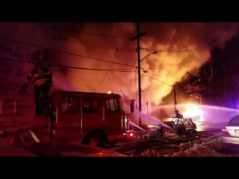 Newark Nj Full City Block  Fully Involved (South 14th St) W/Audio P-3