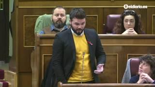El portavoz de ERC pregunta al presidente por las medidas de lucha contra el VIH