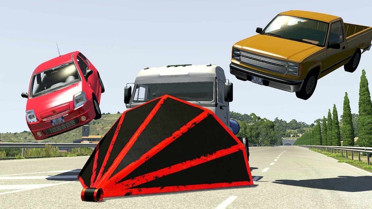 BeamNG Drive | Stressed Out . With Huge Trucks