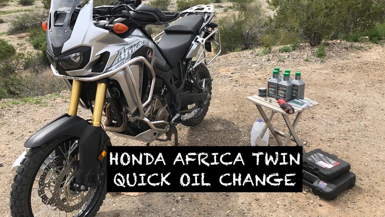 honda africa twin quick oil change in the arizona desert. Black Bedroom Furniture Sets. Home Design Ideas