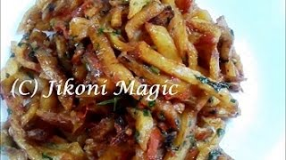 How to make Masala Chips / Fries Kenyan style - Jikoni Magic