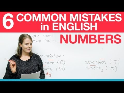 How to write numbers in English - 6 common mistakes