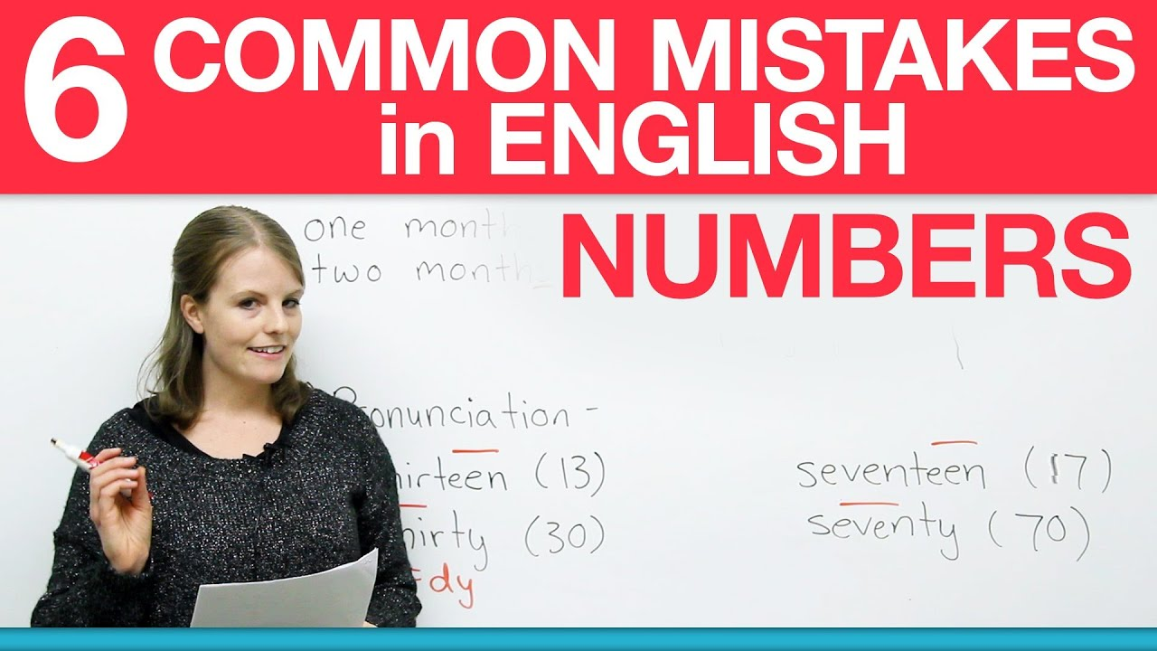 how to write numbers in english common mistakes  how to write numbers in english 6 common mistakes
